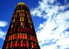 Costruzione delle bottiglie di plastica Fotografia Stock Libera da Diritti
