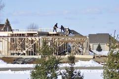 Costruzione delle nuove case Fotografie Stock