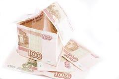 Costruzione delle rubli russe Fotografia Stock