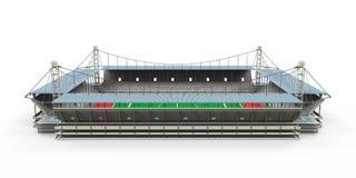 Costruzione dello stadio isolata Fotografie Stock Libere da Diritti