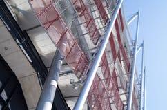 Costruzione dello stadio nazionale a Varsavia, Polonia Fotografie Stock Libere da Diritti