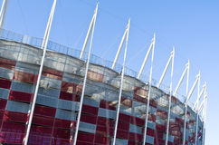 Costruzione dello stadio nazionale a Varsavia, Polonia Fotografia Stock