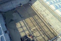 Costruzione dello stadio Nuovo stadio, impianto sportivo fotografie stock