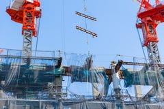 Costruzione dello stadio olimpico di sport di Tokyo in Kasumigaoka Fotografie Stock Libere da Diritti
