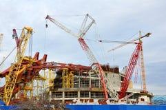 Costruzione dello stadio principale nel PA olimpico Immagini Stock