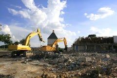 Costruzione demolita Fotografie Stock