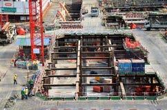 Costruzione di affari della costruzione alla Tailandia Fotografia Stock
