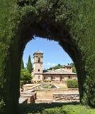 Costruzione di Alhambra Fotografia Stock
