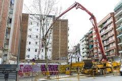 Costruzione di alloggi a Barcellona Immagini Stock Libere da Diritti