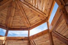 Costruzione di alloggi di legno Immagine Stock
