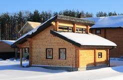 Costruzione di alloggi di legno Stabilmento balneare dalla barra Fotografie Stock