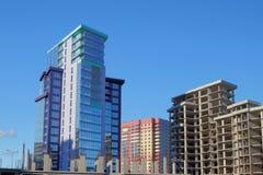 Costruzione di alloggi di palazzo multipiano Fotografia Stock