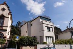 Costruzione di alloggi a Francoforte immagini stock libere da diritti