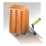 Costruzione di alloggi La costruzione di alloggio illustrazione di stock