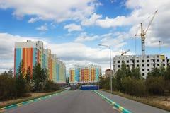 Costruzione di alloggi nella città Immagini Stock