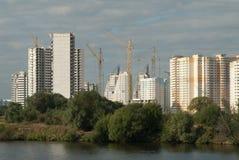 Costruzione di alloggi nella regione di Mosca Fotografia Stock