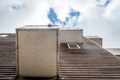 Costruzione di alloggio iconica a Amsterdam Fotografie Stock