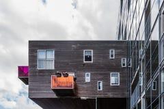 Costruzione di alloggio iconica a Amsterdam Fotografia Stock