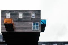 Costruzione di alloggio iconica a Amsterdam Fotografia Stock Libera da Diritti