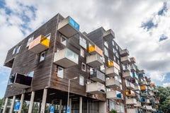 Costruzione di alloggio iconica a Amsterdam Fotografie Stock Libere da Diritti