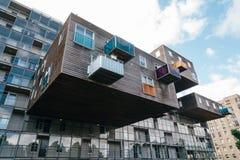 Costruzione di alloggio iconica a Amsterdam Immagine Stock Libera da Diritti