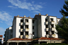 Costruzione di appartamento abbandonata Immagini Stock Libere da Diritti