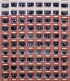 Costruzione di appartamento ammucchiata fotografia stock