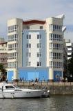 Costruzione di appartamento a Bristol Harbour l'inghilterra Fotografia Stock Libera da Diritti