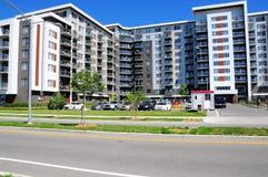 Costruzione di appartamento, Canada Immagini Stock