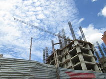 Costruzione di appartamento in costruzione Immagine Stock