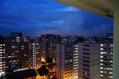 Costruzione di appartamento dell'alloggio a Singapore Immagini Stock Libere da Diritti