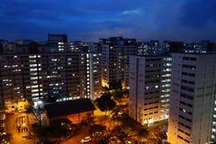 Costruzione di appartamento dell'alloggio a Singapore Fotografie Stock