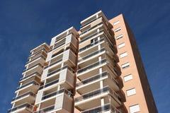 Costruzione di appartamento di Benidorm Fotografie Stock