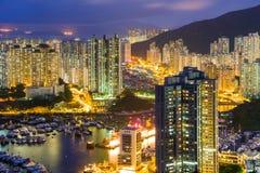 Costruzione di appartamento di Hong Kong Fotografie Stock