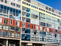 Costruzione di appartamento di Silodam a Amsterdam, Olanda Fotografie Stock Libere da Diritti