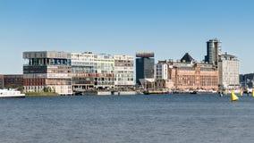 Costruzione di appartamento di Silodam a Amsterdam, Olanda Fotografia Stock Libera da Diritti