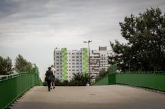 Costruzione di appartamento e della gente Immagine Stock