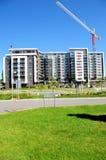 Costruzione di appartamento, gru, verticale del Canada Fotografie Stock Libere da Diritti