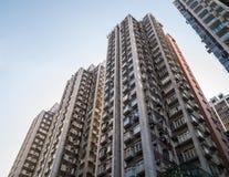 Costruzione di appartamento in Hong Kong. Fotografia Stock
