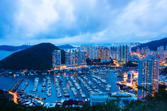 Costruzione di appartamento a Hong Kong Fotografia Stock Libera da Diritti