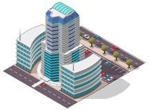 Costruzione di appartamento isometrica dell'hotel di vettore royalty illustrazione gratis