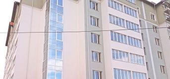 Costruzione di appartamento moderna Fotografie Stock Libere da Diritti