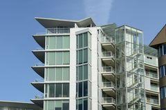 Costruzione di appartamento moderna BC Fotografia Stock