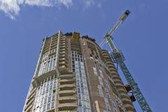 Costruzione di appartamento moderna del cantiere Fotografie Stock Libere da Diritti