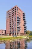 Costruzione di appartamento moderna vicino al canale, Tilburg, Paesi Bassi Fotografia Stock