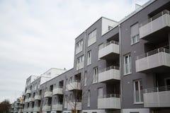 Costruzione di appartamento a Monaco di Baviera, edificio residenziale, residenziale Fotografie Stock Libere da Diritti