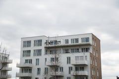 Costruzione di appartamento a Monaco di Baviera, edificio residenziale, residenziale Immagini Stock