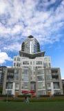 Costruzione di appartamento nel distretto d'avanguardia di Vancouvers Yaletown Fotografie Stock Libere da Diritti