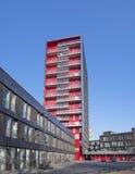 Costruzione di appartamento rossa Fotografie Stock
