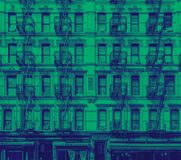Costruzione di appartamento storica nel lato est più basso di Manhattan New York Fotografia Stock